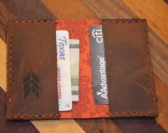 Slim Wallet - Wallet - Business card - Card Holder - Leather - Handmade