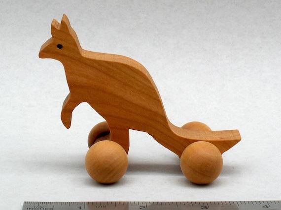 Kangaroo Wheel Toy Eco Friendly Wood Toy Kids Party Favor