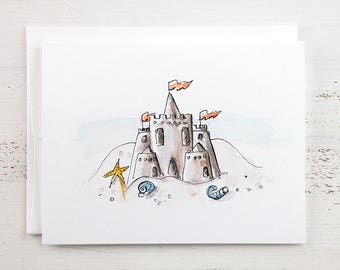 Sand Castle Note Card