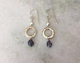 Iolite Orb Earrings
