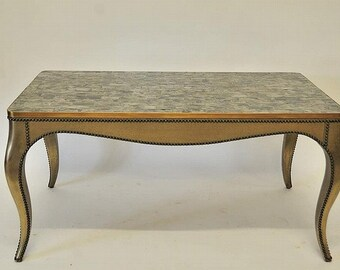 SALE Coffee Table Low Table With Mica Top Cabriole Legs Gilded