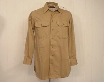 Vintage shirt, military shirt, 1940s shirt, WWII shirt, vintage clothing, small