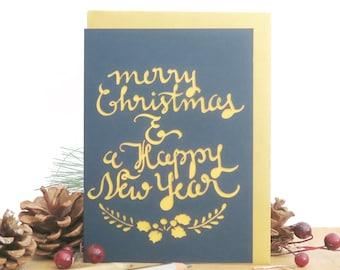 Merry Christmas card, Happy New Year card, Christmas card, Christmas card for men, Christmas card boyfriend, family Christmas card