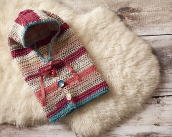 Hand knit hood set