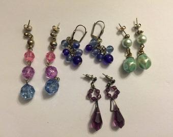 Vintage Lot of Beaded Earrings
