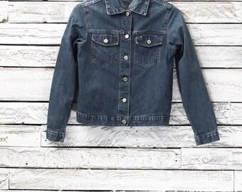 Tommy Hilfiger jean jacket | Blue jean jacket | Vintage denim jacket | Vintage jean coat
