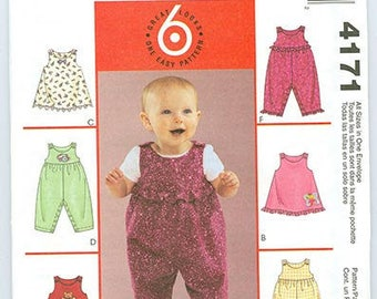 McCall's Pattern 4171 Baby Jumper Jumpsuit NEW All Sizes Infant S-XL