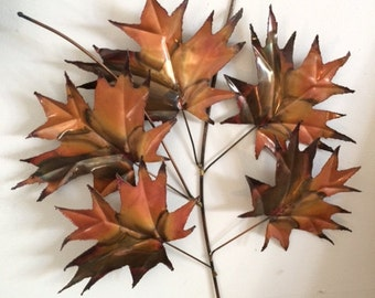 Vintage Copper Maple Leaf Art!  Real Copper, very nice, goes with any decor!