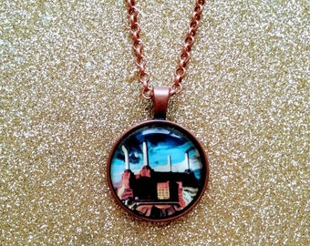 Pink Floyd Animals album cover Handmade One of a Kind Necklace