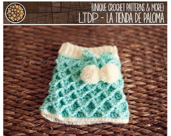 INSTANT DOWNLOAD - Crochet Waffle Gaufre Skirt