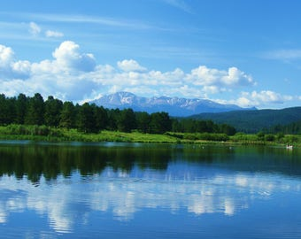 Mountain Lake Photography/ Lakes/ Colorado/ Trees/Gorgeous Mountains.