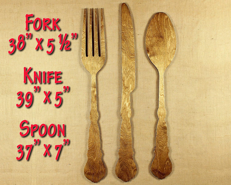Farmhouse Style Kitchen Signage Fork Spoon Knife Kitchen