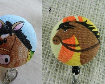 Horses Badge Holder Reel, ID Name Holder,Security tag holder