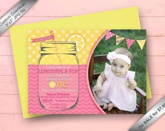 Lemonade Birthday Party Invitation