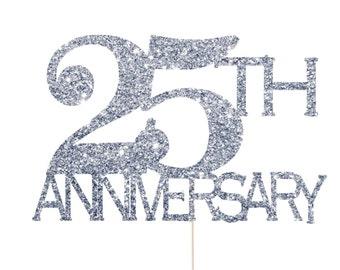 25th anniversary silver decorations