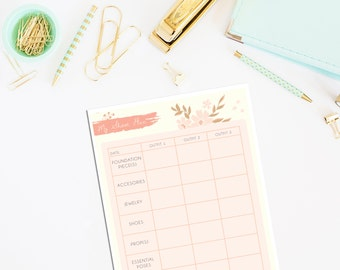 My Blog Shoot Blog Planning Notepad