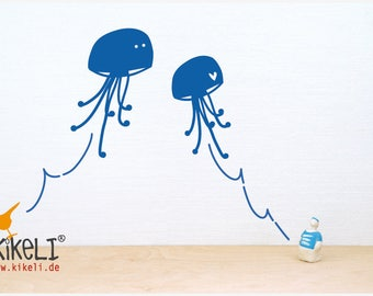 Wall decals jellyfish