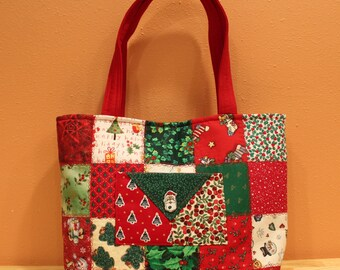 Quilted Tote Bag - Christmas