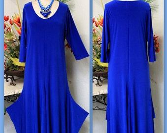 Vesrsatile Dress, Plus Size Clothing, Designer Plus Size Dress,  Lagenlook  Dress ,Swing Dress for full figure women. XL/1XL AND 2XL/3XL