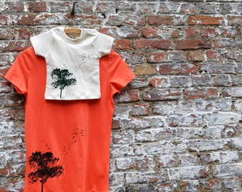 Mommy and me T-shirts - Tree Family Outfit - Matching T-shirts - Mom and Baby - Eco Friendly T-shirt set - Fair trade Clothing Organic