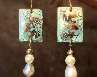 """Earrings """"Okinawa"""" - Collection """"Stops Japanese"""" - chic and sophisticated"""