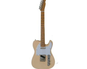 Miniature Guitar Replica: Telecaster Display Guitar Vintage White Finish