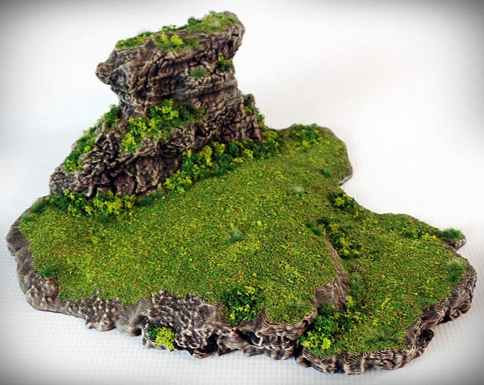Ramp Spiral Outcropping - Print your own!- DIGITAL FILE – Miniature Wargaming & RPG rock formation terrain