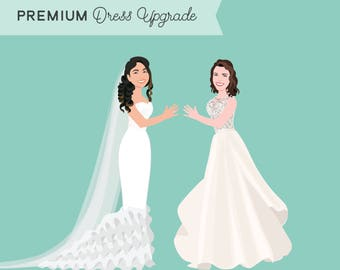 Premium Dress Upgrade - Add custom details to your wedding dress illustration