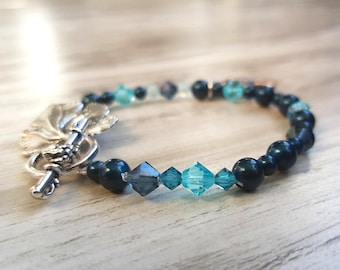 Bracelet for Maid | Turquoise Swarovski Pearls and crystals