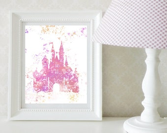 Disney Castle Splatter Print