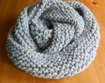 Hand Made Chunky Knit Cowl - Chunky Knit Infinity Scarf - Hand Made Wool Scarf - Oversized Scarf