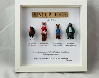 Personalised Peter Rabbit frame - special words for a special person - birthday present - christmas gift