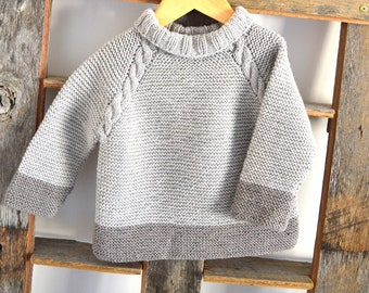 KNITTING PATTERN-Driftwood Sweater, Top Down - P127