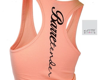 Barretender. tank top. racerback tank. workout tank. womens graphic tees. barre tank. tank workout. gym clothes. fitness. barre so hard.