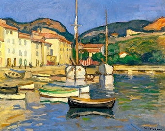 Harbour of Cassis - Charles Camoin - Poster A3 or A4 Matt, Glossy or Art Canvas Paper