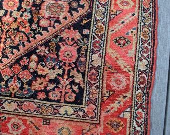 "3'6""x7'5"" Vintage Persian Hamadan Runner"