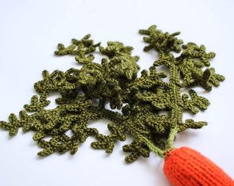 Speel voedsel wortel - Waldorf speelgoed doen alsof spelen groenten - gebreide oranje groen Baby Foto prop - baby gym toy - educatieve klas speelgoed