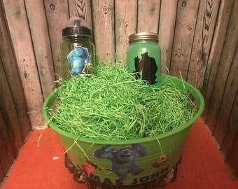Monsters Inc Gift Basket, Monsters Inc Easter Basket, Custom Gift Basket, Monsters Inc Gift Set, Personalized, Monsters Inc, Nightlight, Cup