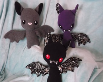 Bat plush with options for made to order!