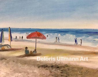 At the Beach Print