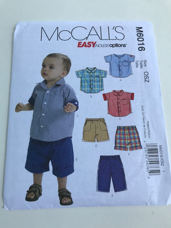 Boy clothing pattern/ childrens sewing pattern/ sewing for kids ...