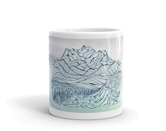Denali Zentangle Watercolor Mug
