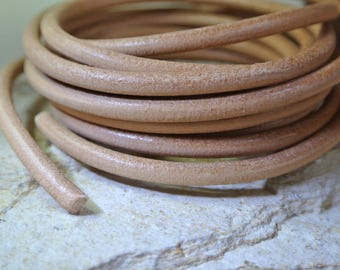 camel round 5 mm in diameter or natural leather cord 20 cm