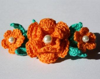 Crochet Flowers Hair Clip Hair Barrette
