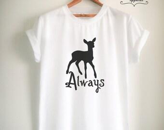 Always Shirt Always T Shirt Potter Shirt Potter T Shirt Potter Merch for Women Girls Men Top Tee White/Black/Grey/Red