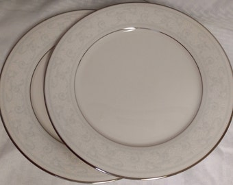Two (2) NORITAKE Trudy 7087 Dinner Plates