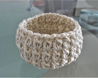 Crochet basket storage basket crochet bowl hand crochet basket