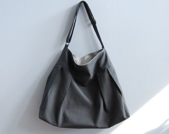 The Market Bag in Gunmetal Gray