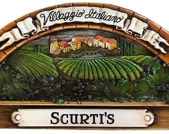 Italian Village Personalized Wall Plaque