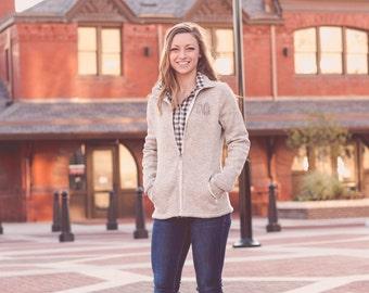 Monogram Fleece Jacket | Monogrammed Jacket | Full Zip Fleece Jacket | Charles River Jacket | Gift for Her | Gifts under 60 | Christmas Gift
